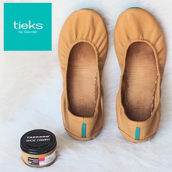Tieks Camel Sz 8 Tan Ballet Flats